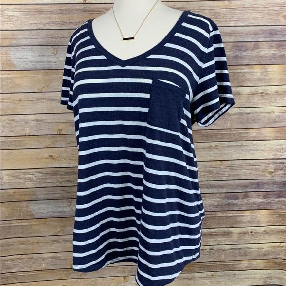 Torrid Sz 2/2X Blue/White Striped Tee Shirt